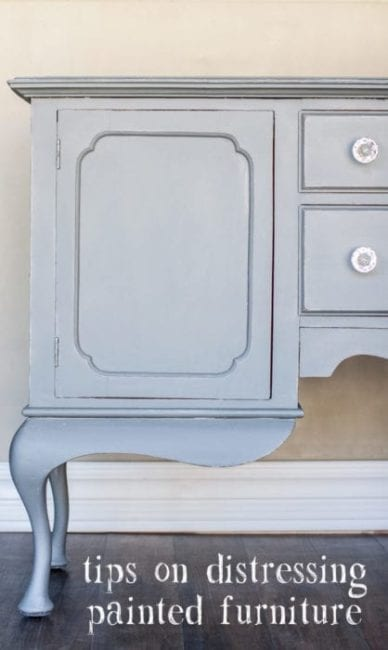 Distressing Painted Furniture – UPDATE 04/20