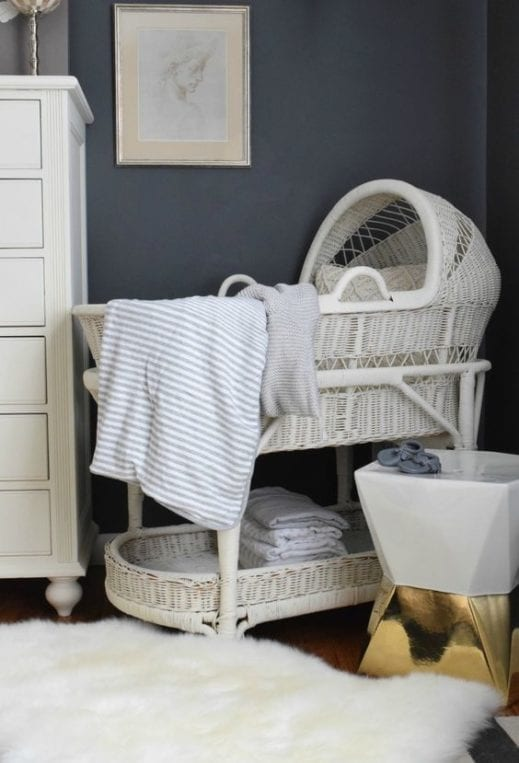 mudpaint furniture paint white bassinet
