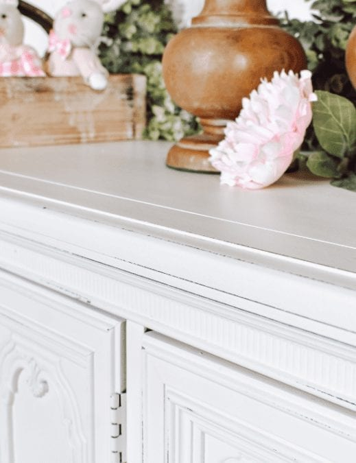 large dresser painted in off white clay furniture paint
