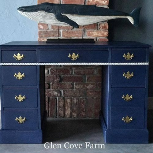 mudpaint furniture paint blue desk