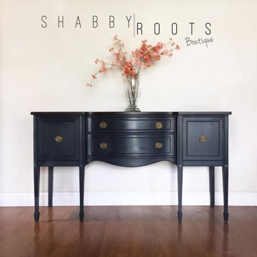 mudpaint furniture paint dark gray sideboard