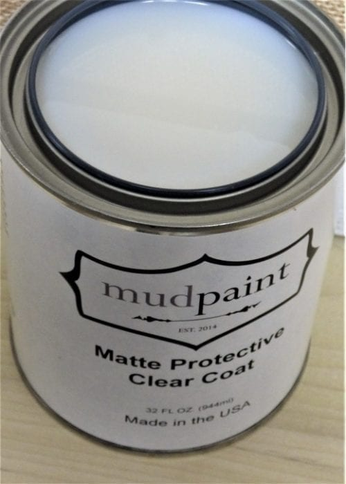 open container of mudpaint matte finish clear coat