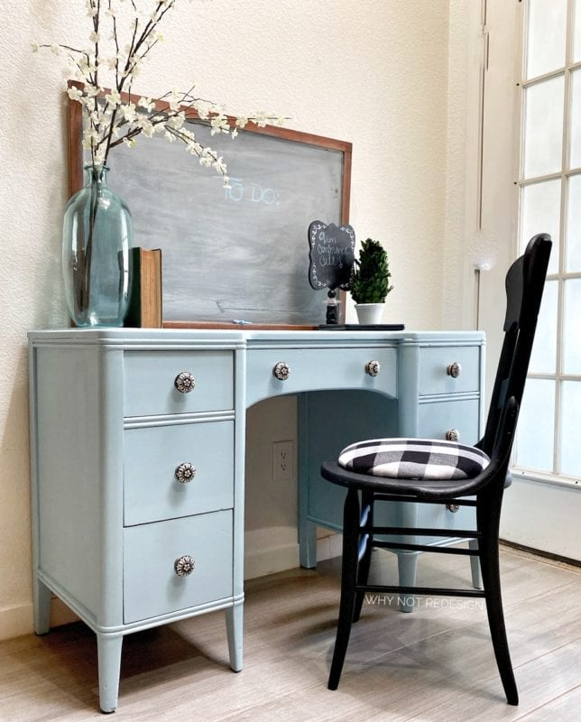 light blue furniture paint