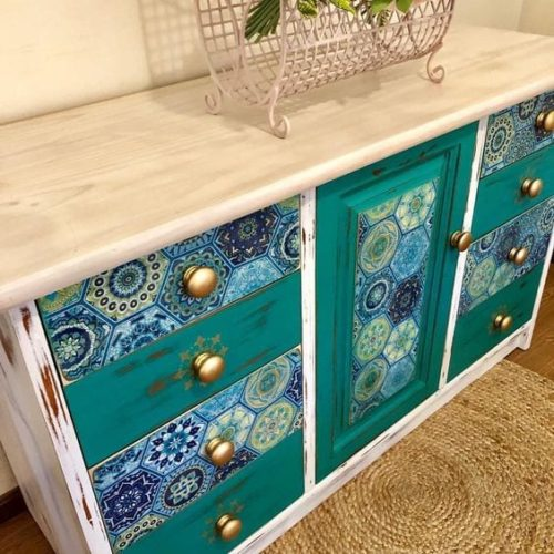 mudpaint furniture paint boho style buffet