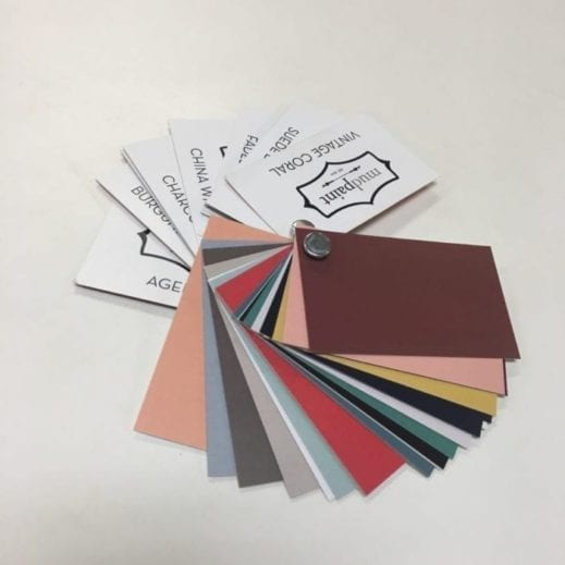 mudpaint furniture paint color card ring
