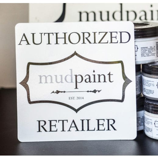 mudpaint furniture paint retailer sign