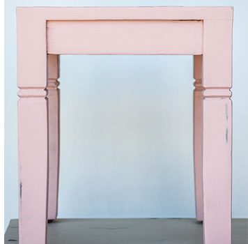 mudpaint furniture paint pink end table