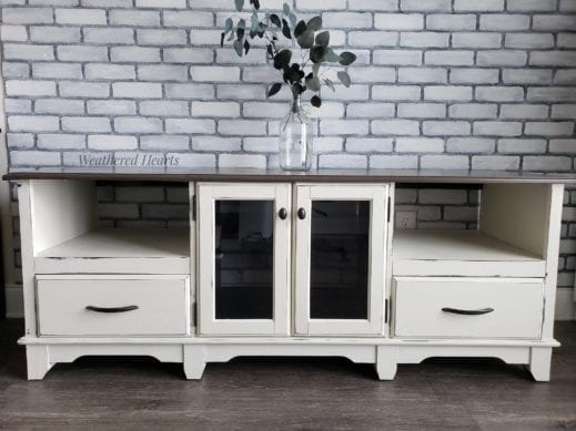 mudpaint furniture paint white media console