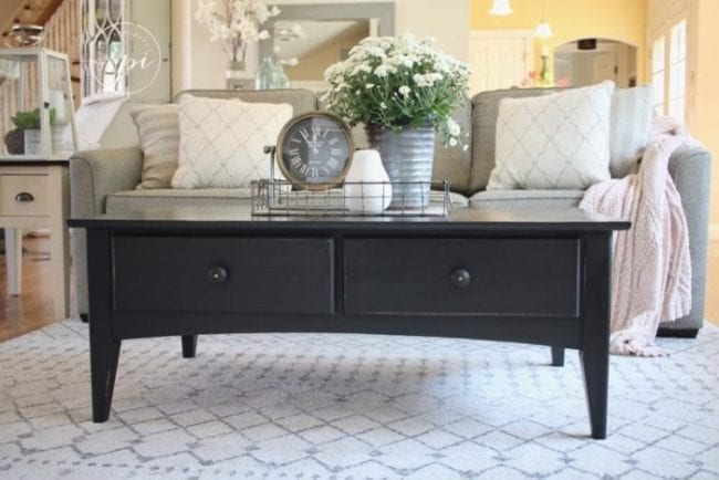 mudpaint furniture paint black coffee table