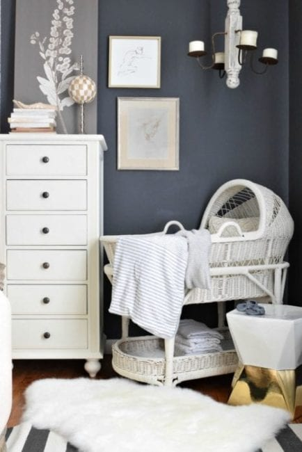 Makeover a Bassinet or Crib with MudPaint Clay Paint
