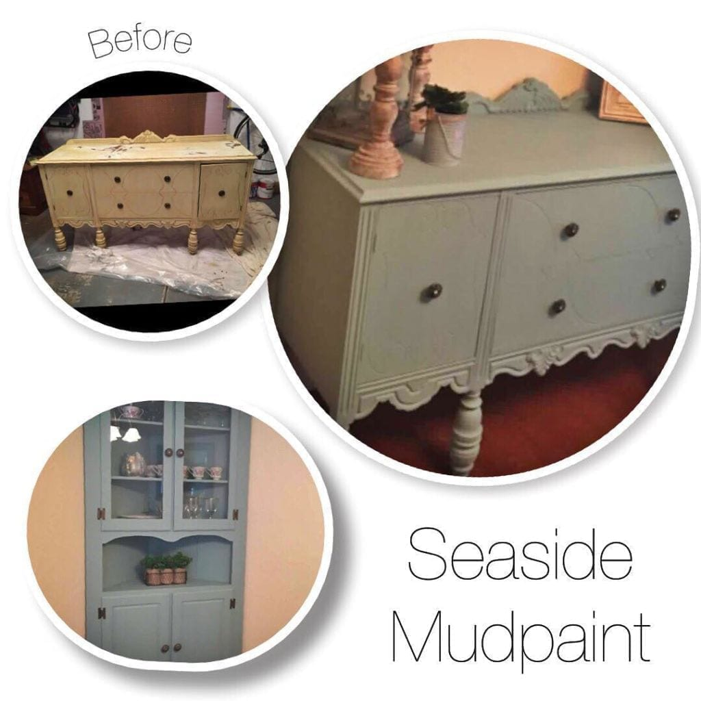 mudpaint furniture paint blue painted sideboard