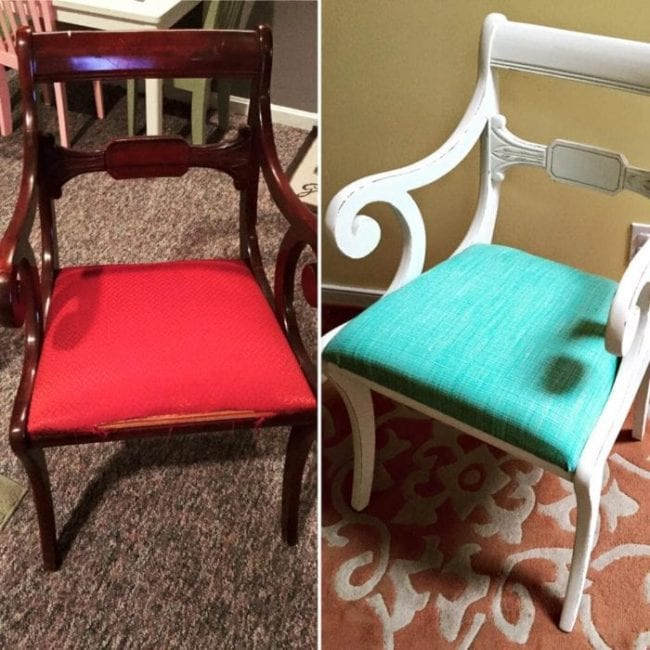 mudpaint furniture paint painted chair before and after