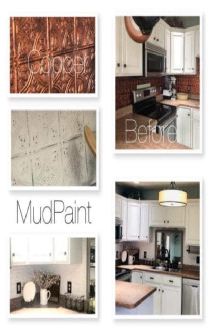 mudpaint furniture paint painted kitchen backsplash