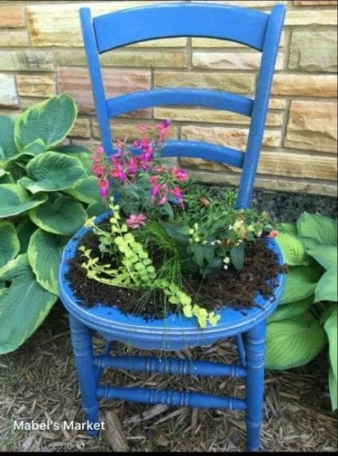 Making a Chair Planter – UPDATE 03/20