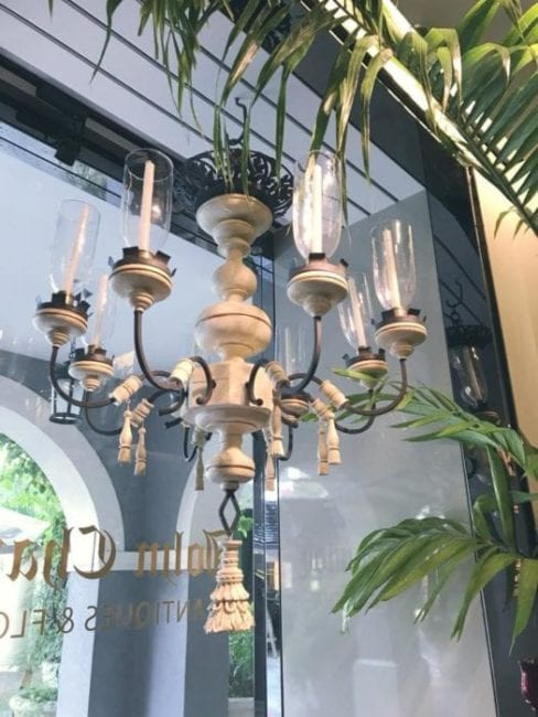 Chandelier Makeover with MudPaint Clay Paint