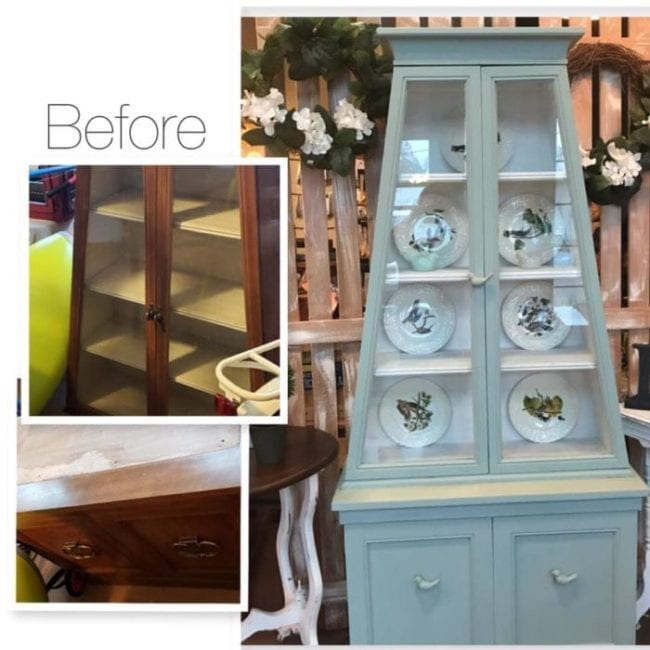 mudpaint furniture paint painted hutch