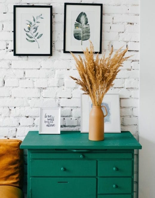 mudpaint furniture paint green end table