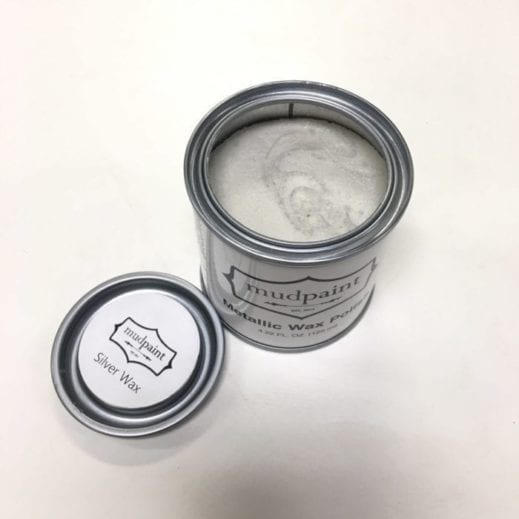 silver metallic furniture wax