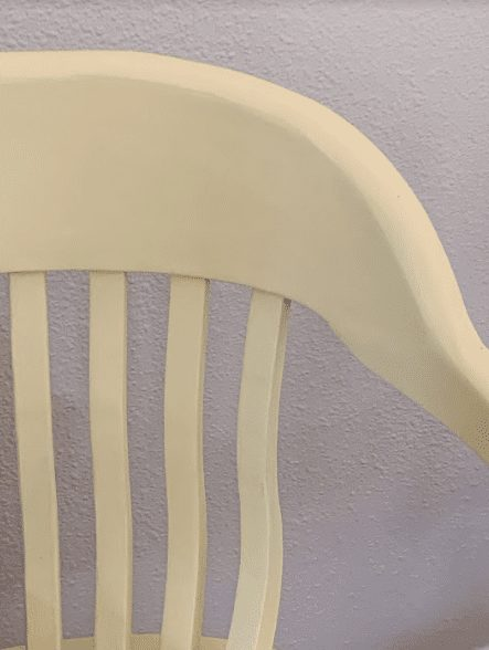 desk chair painted in light yellow clay furniture paint