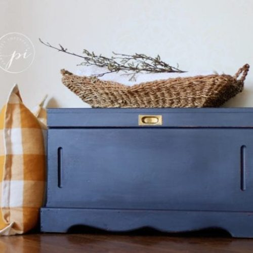 navy blue furniture paint
