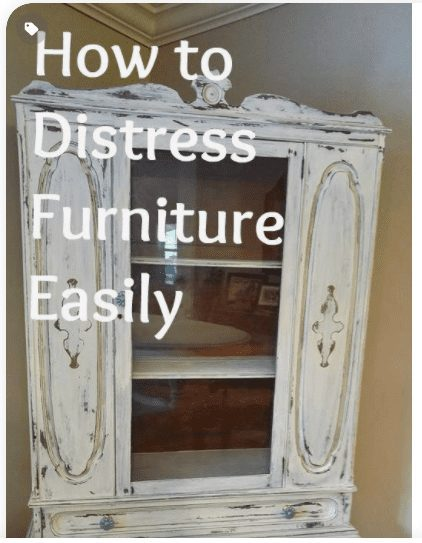 Distressing Wood Furniture Mudpaint, How To Paint And Distress Wood Furniture
