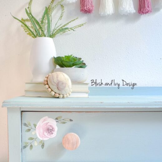large dresser painted with blue green Mudpaint clay furniture paint