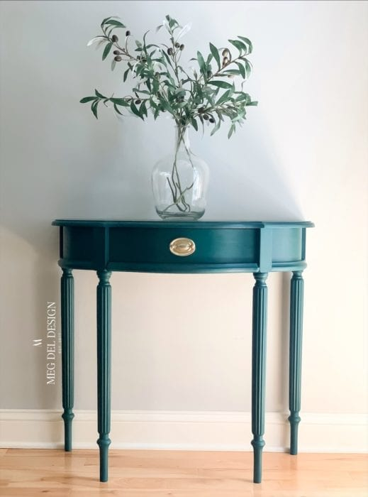 dark green furniture paint