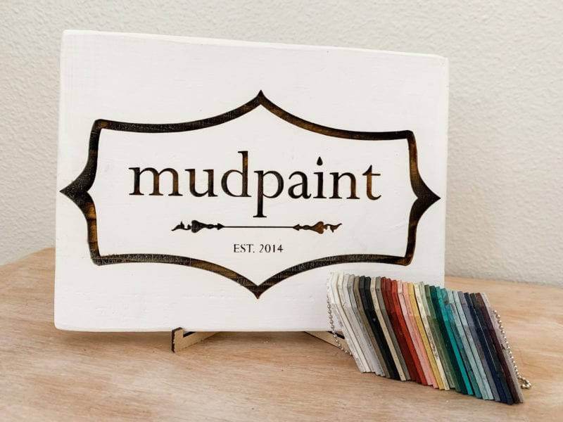 mudpaint painted sign