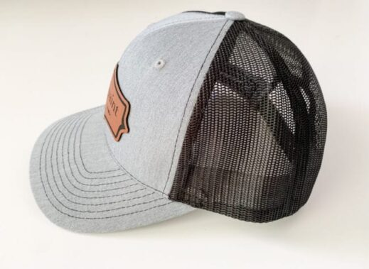 picture of various angles of MudPaint clay furniture paint trucker hat