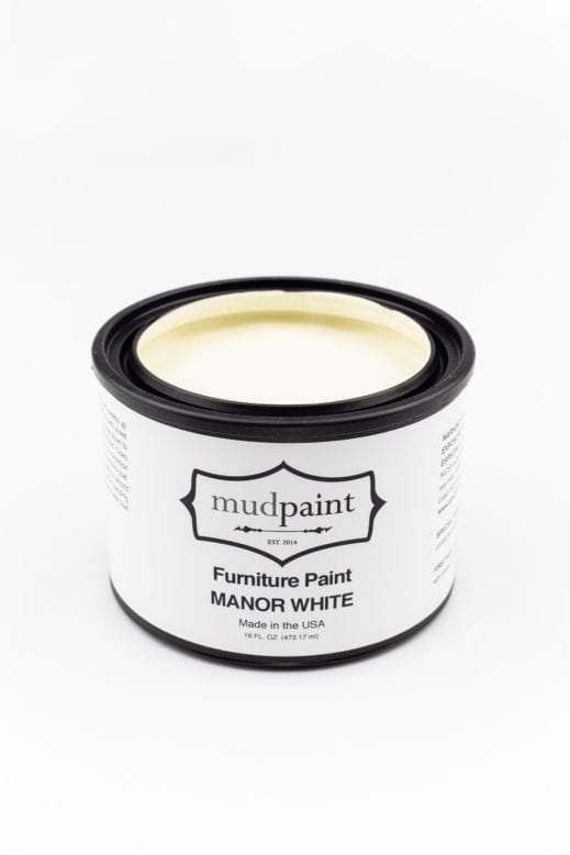 pint of creamy white clay furniture paint by MudPaint