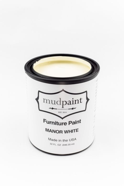 quart of creamy white clay furniture paint by MudPaint