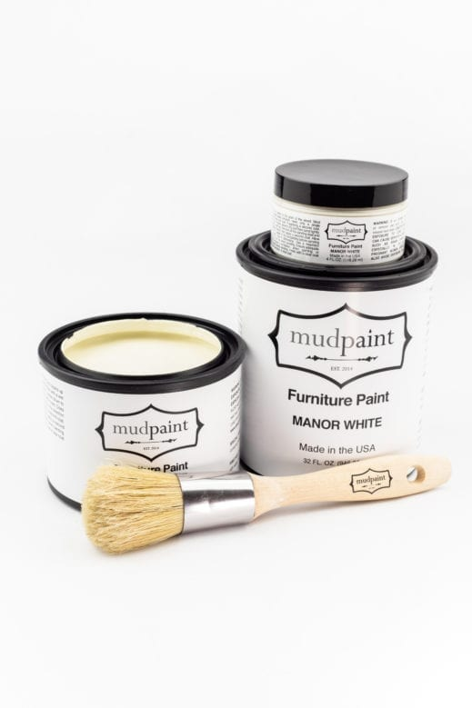 creamy white clay furniture paint by MudPaint