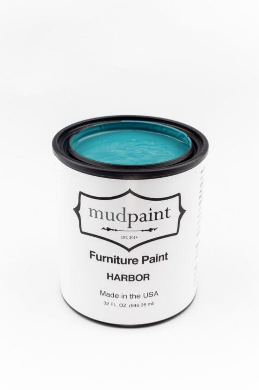 teal colored clay furniture paint by MudPaint
