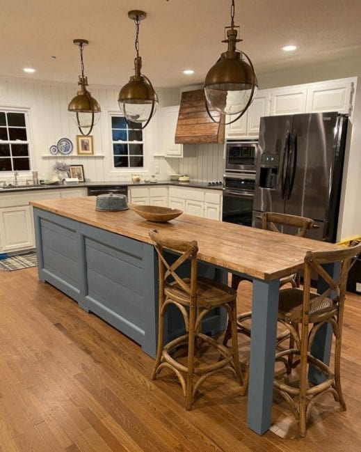 kitchen cabinets painted in newport blue gray clay furniture paint