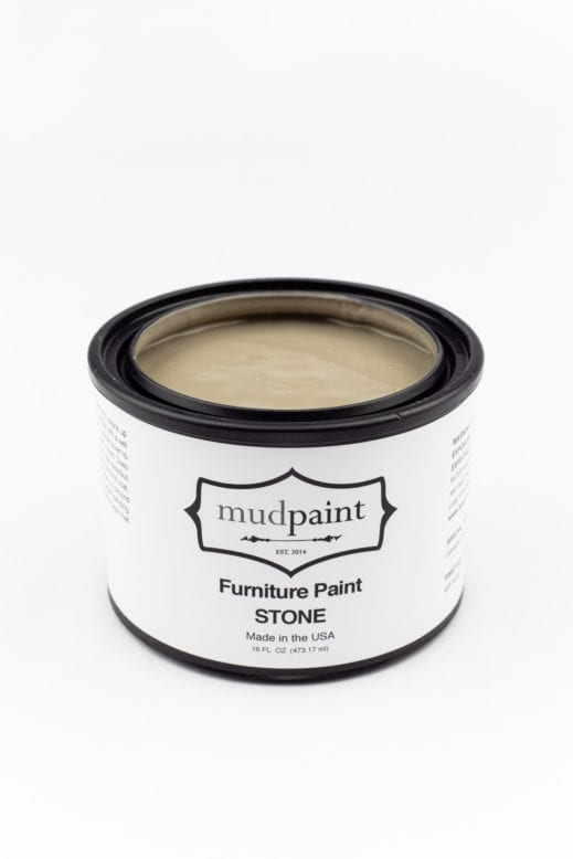 pint container of gray brown clay furniture paint