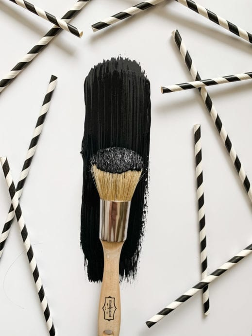 paint brush with black clay mudpaint furniture paint