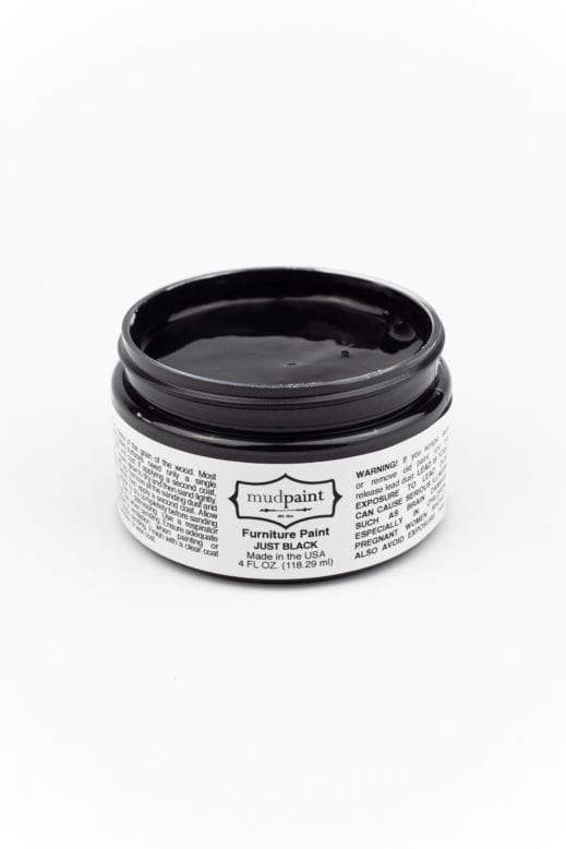 black clay furniture paint from MudPaint