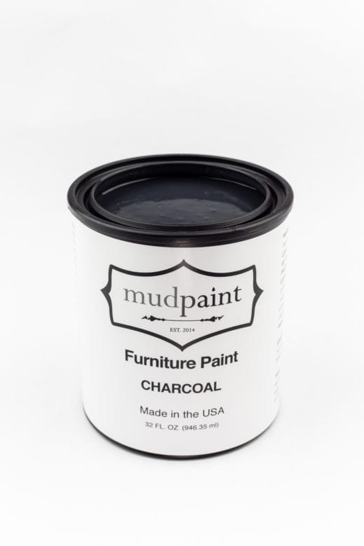 quart container of dark gray clay furniture paint by MudPaint