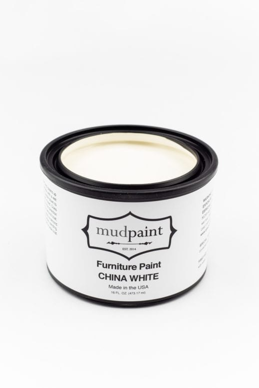 pint container of china white clay furniture paint