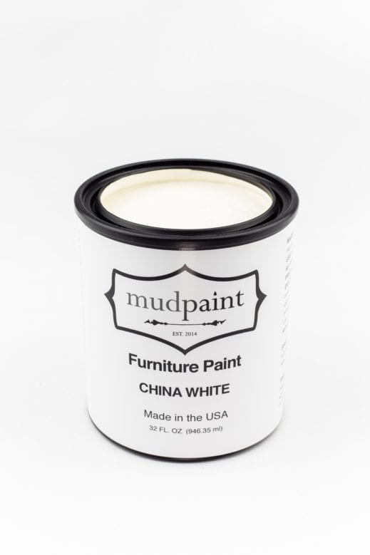 quart container of china white clay furniture paint