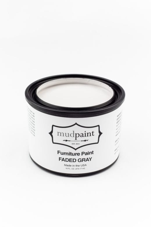 pint container of light gray clay furniture paint