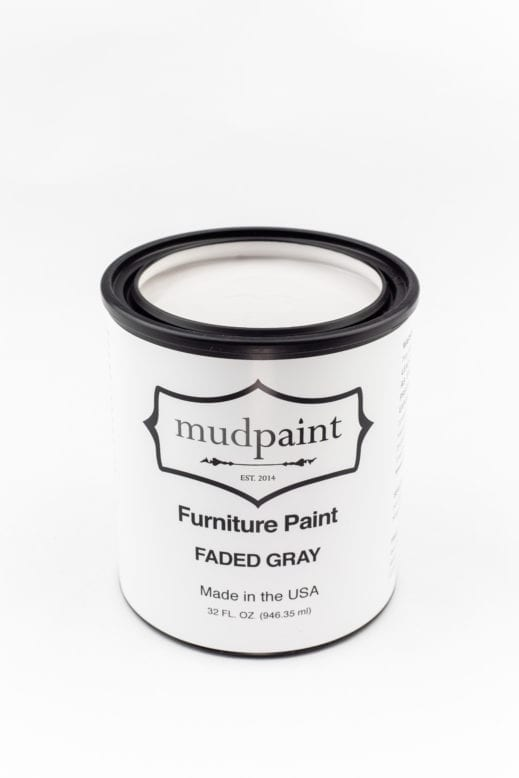 quart container of light gray clay furniture paint