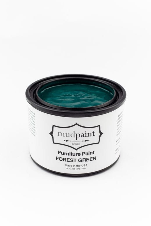 pint of dark green clay furniture paint by MudPaint