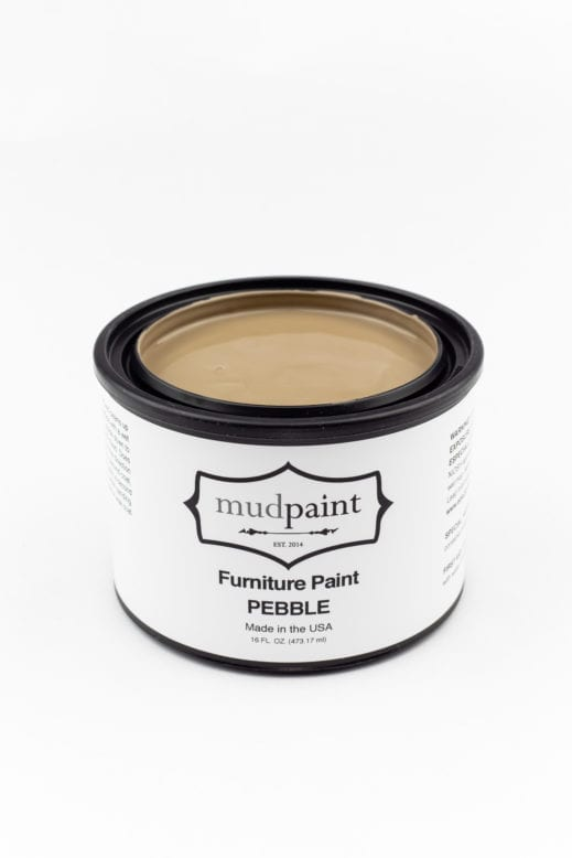 pint container of light brown clay furniture paint