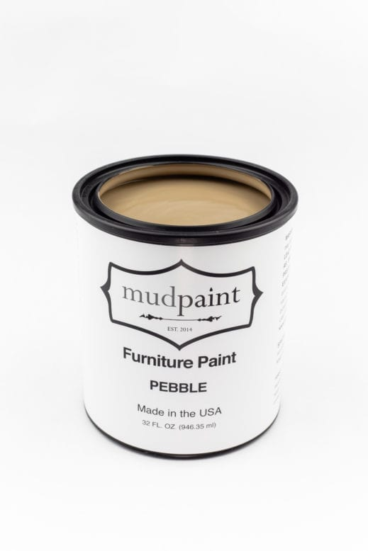 quart container of light brown clay furniture paint by MudPaint