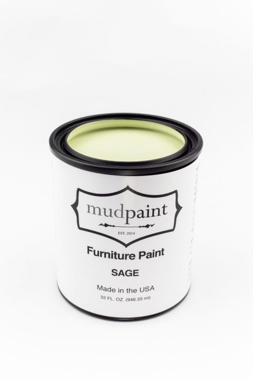 quart of light green clay furniture paint by MudPaint