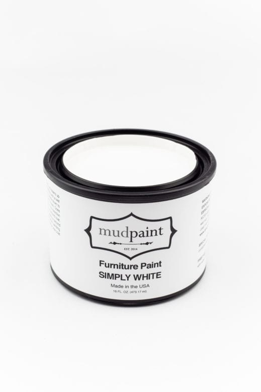 pint of pure white clay furniture paint by MudPaint