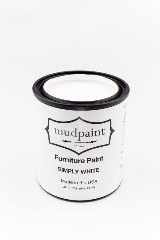 quart of pure white clay furniture paint by MudPaint
