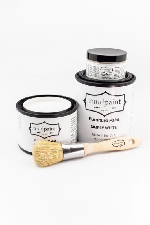 pure white clay furniture paint by MudPaint