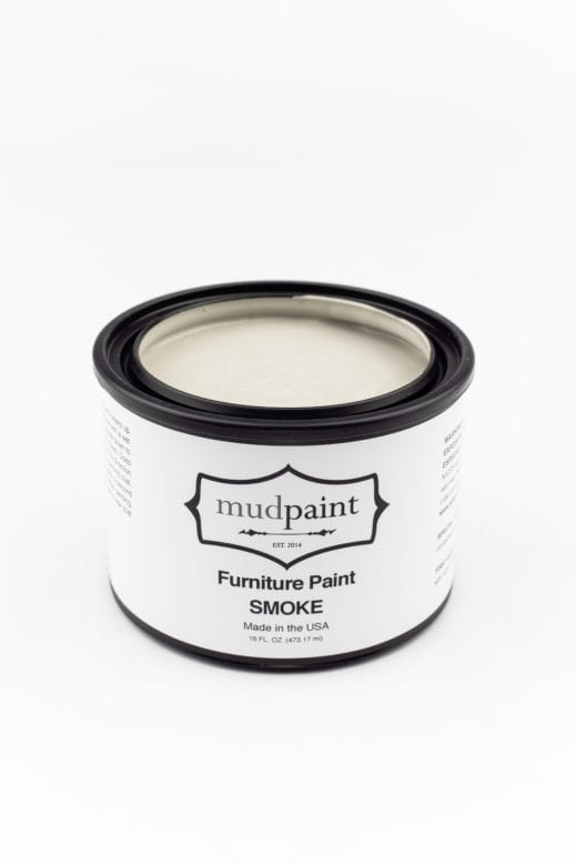 pint container of medium gray clay furniture paint